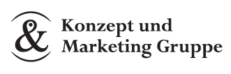 Konzept & Marketing Gruppe Sticky Logo