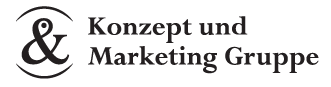 Konzept & Marketing Gruppe Mobile Retina Logo